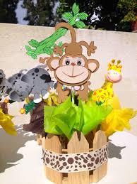 Baby Shower Table Centerpieces by Jungle Theme Baby Shower Centerpieces Via Etsy Misc