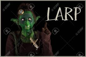 green goblin is offering the word larp live action role play
