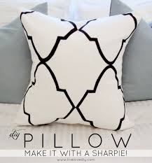 Livelovediy by Livelovediy Diy Stencil Sharpie Pillow