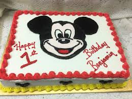 mickey mouse first birthday sheet cake mueller u0027s bakery