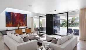 architecture living room modern home in seville spain designed by