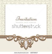 elegant save date card jewelry diamond stock vector 325172222