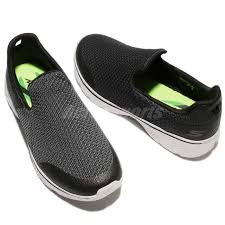 skechers go walk 4 black grey men casual walking shoes sneakers