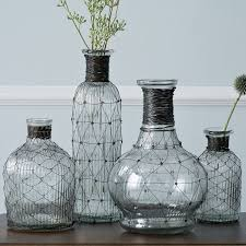 bud vase garland wire bottle bud vases west elm