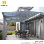 Patio Awning Reviews Aluminum Patio Polycarbonate Roof Gate Cover Sunshield Shelter