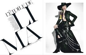 magazine layout graphic design vogue france april 2013 type eh