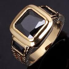 aliexpress buy mens rings black precious stones real wholesale fashion aaa zirconia jewelry gold ring black