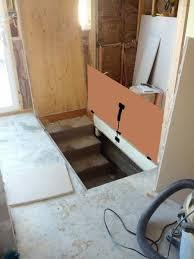 help floor door into basement with gas springs doityourself com