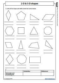 2d and 3d shapes worksheet worksheets