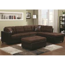 Chenille Sectional Sofas by Living Room Leather Tufted Sectional Sofa Coaster Sectional