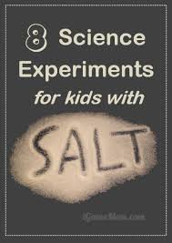 Science Experiments For Kids With Salt Science Experiments - Simple kitchen science experiments