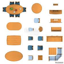 Floor Plan Furniture Clipart Floor Plan Garden Furniture Set