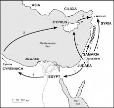 Judea Map The Bible Journey Stephen Is Killed U0026 The Believers Are Scattered