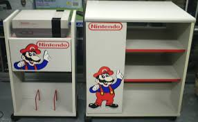 Vintage Storage Cabinets Video Game Display Retro Nintendo Storage Cabinets Tv Cart And
