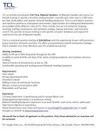 Resume To Work Tcl Supply Chain Inc Linkedin