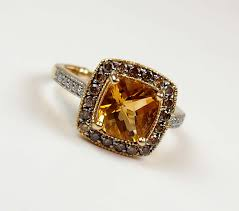 citrine engagement rings citrine halo engagement ring with chocolate diamonds arnold jewelers