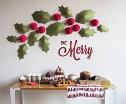 christmas wall decor awesome diy christmas wall decorations happy holidays with regard