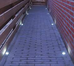 led step lights frosted 40mm plastic trimmed mini deck