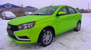 tayota in english 2015 lada vesta start up engine and in depth tour youtube