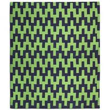 donatello blue hand tufted wool rug