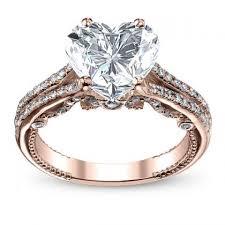 heart shaped wedding rings gold heart shape engagement rings