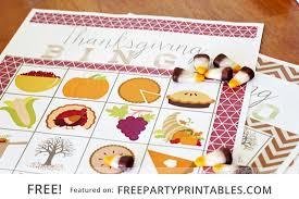 thanksgiving bingo and scavenger hunt free printables