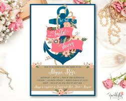 nautical bridal shower baby shower anchor invitation navy