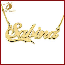 Gold Arabic Name Necklace 18k Arabic Rajasthani Gold Plate Jewellery Dubai Design Letter