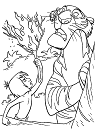 jungle book coloring pages mowgli shere khan jungle book