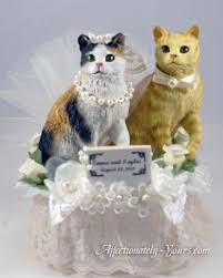 cat wedding cake topper 42 best dog cat pet cake toppers images on cake