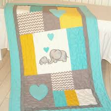 shop gray yellow elephant nursery on wanelo