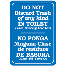 decor signs interior decor signs do not discard trash of any in toilet