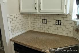 simply beautiful by angela installing a tile backsplash part 2