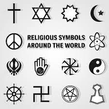 religious symbols around the world icon set royalty free