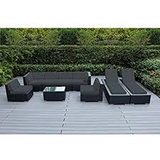 Sofa With Chaise Lounge Amazon Com Genuine Ohana Outdoor Sectional Sofa Dining And