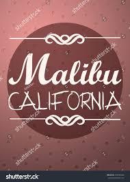 malibu california ornament typography vector card stock vector