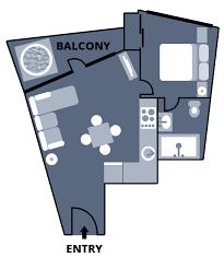 1 Bedroom Apartment Floor Plans by Falls Creek Accommodation 1 Bedroom Apartment Huski