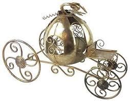 beautiful ornate fancy metal cinderella pumpkin carriage centerpiece