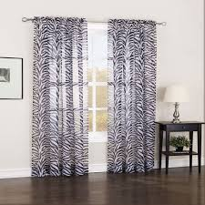 furniture stylish solid zebra 84 inch long elegant sheer curtains