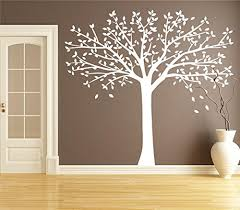 Tree Wall Decals For Living Room White Tree Decal Nursery Large Fall Tree Sticker For Living Room