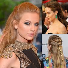 celebrity half up hairstyle pictures for wedding and prom
