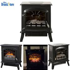 1500w fireplace standing electric heater flame wood log decorate