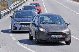 ford group spied ford fiesta rs hits the streets with its entourage
