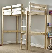 Loft Bunk Bed Heavy Duty Ft Single Wooden High Sleeper Bunkbed - Single bed bunks
