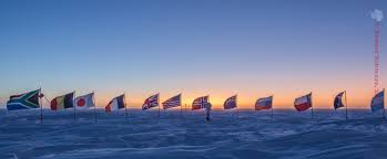 Antarctic Flag South Pole 2017