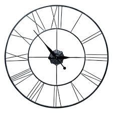 wall clocks roman numeral metal oversized wall clock dunelm