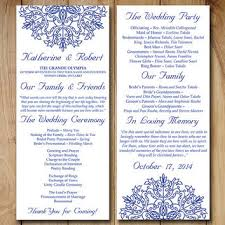 wedding ceremony program templates wedding program template order from paintthedaydesigns