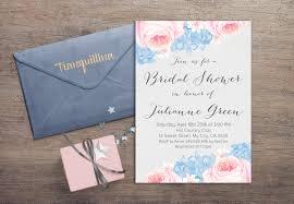 watercolor bridal shower invitation printable floral bridal