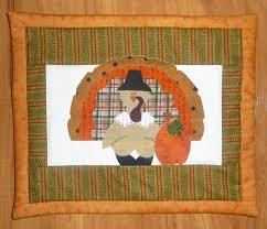 autumn turkey thanksgiving mini quilt at patchwork paint