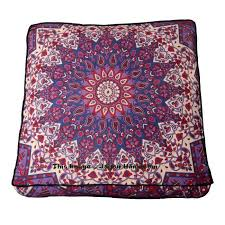 boho mandala square floor cushion indian outdoor seating pouf cover